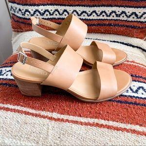 Franco Sarto Amal tan leather chunky heel sandal